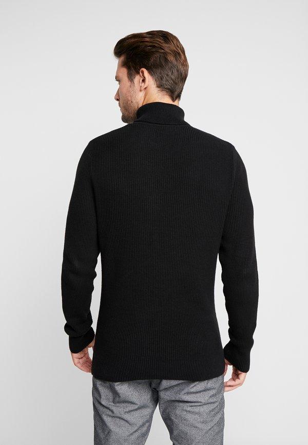 Pier One Sweter - black/czarny Odzież Męska XPSU