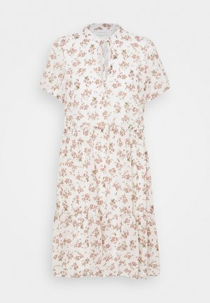 VIURA WAIST  RUFFLE DRESS - Day dress - snow white/small flower