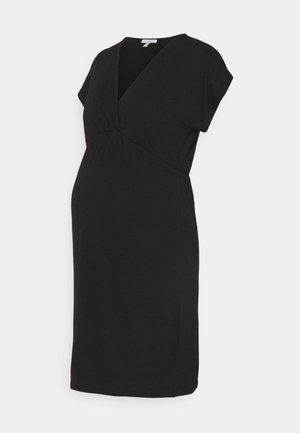 EVI MATERNITY DRESS - Jerseykjole - black