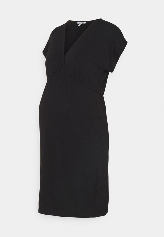 EVI MATERNITY DRESS - Robe en jersey - black