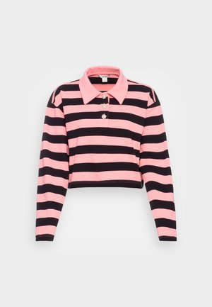 Polo shirt - pink/black