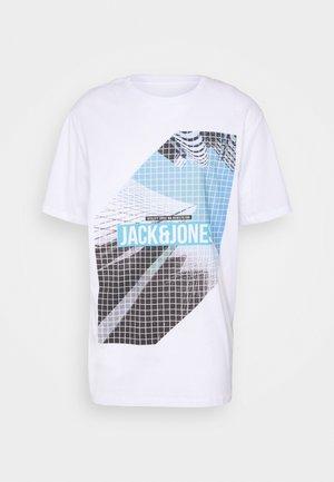JCOPHOTOGRID TEE CREW NECK - Print T-shirt - white