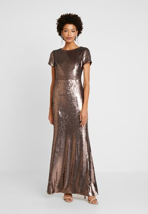 SEQUIN MERMAID GOWN - Abito da sera - dark mink