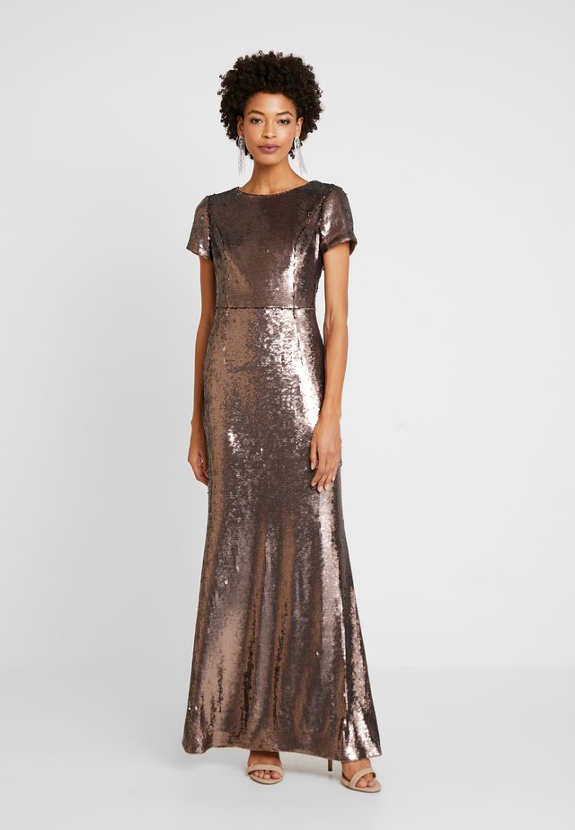 SEQUIN MERMAID GOWN - Occasion wear - dark mink