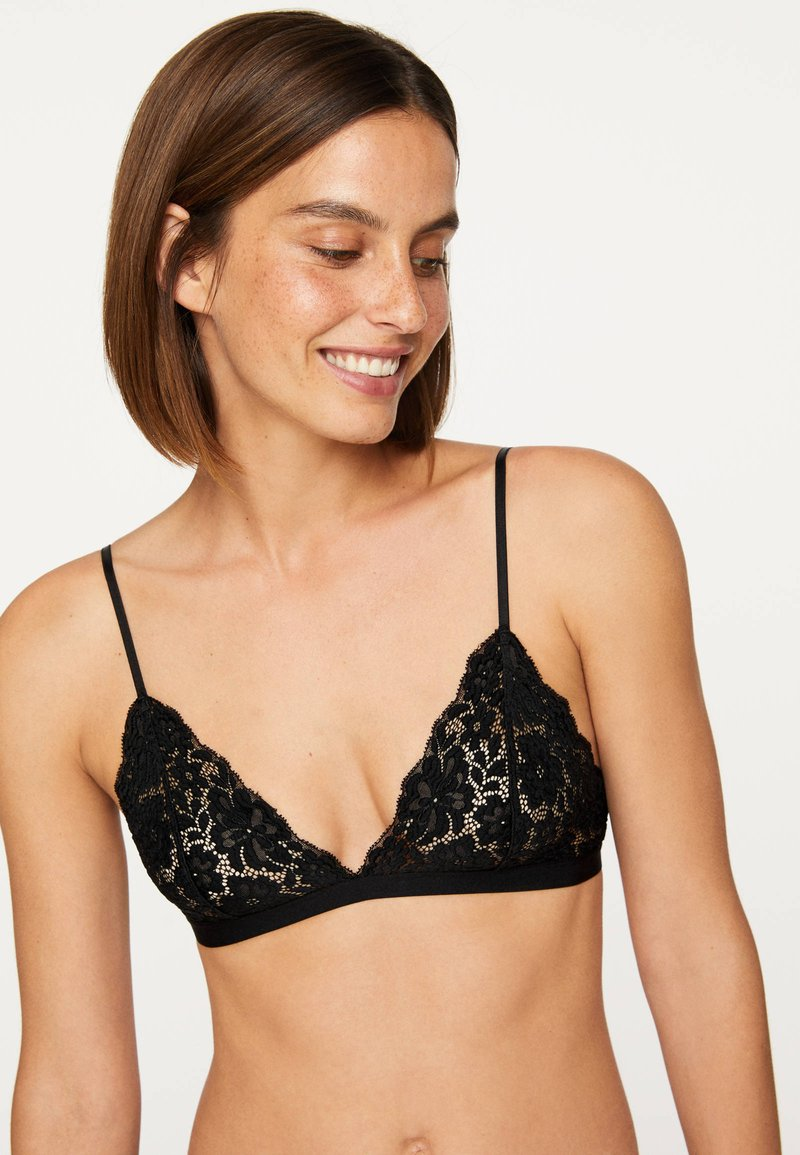 OYSHO - COMFORT - Triangel BH - black