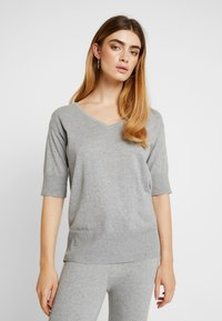 esmé studios - SILLE JUMPER - Neule - mottled light grey - 0