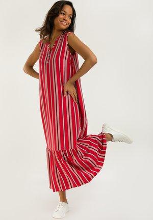 MIT STREIFENDESIGN - Maxi dress - poppy