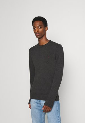 ULTRA LIGHTWEIGHT CREW NECK - Stickad tröja - dark grey heather
