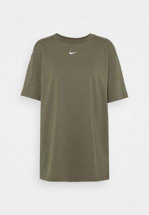 Print T-shirt - cargo khaki/white