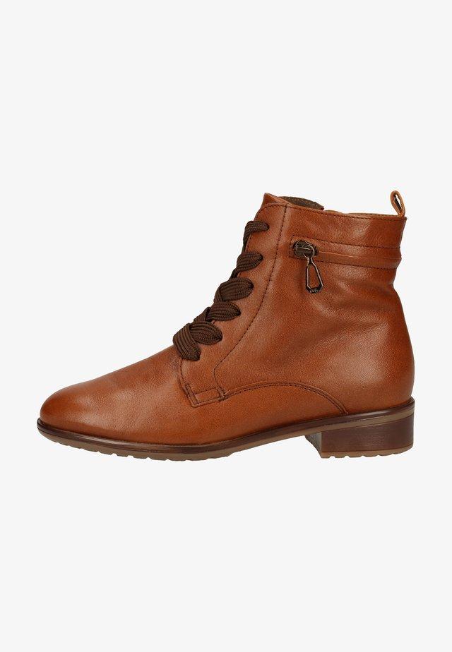 Lace-up ankle boots - cognac 65