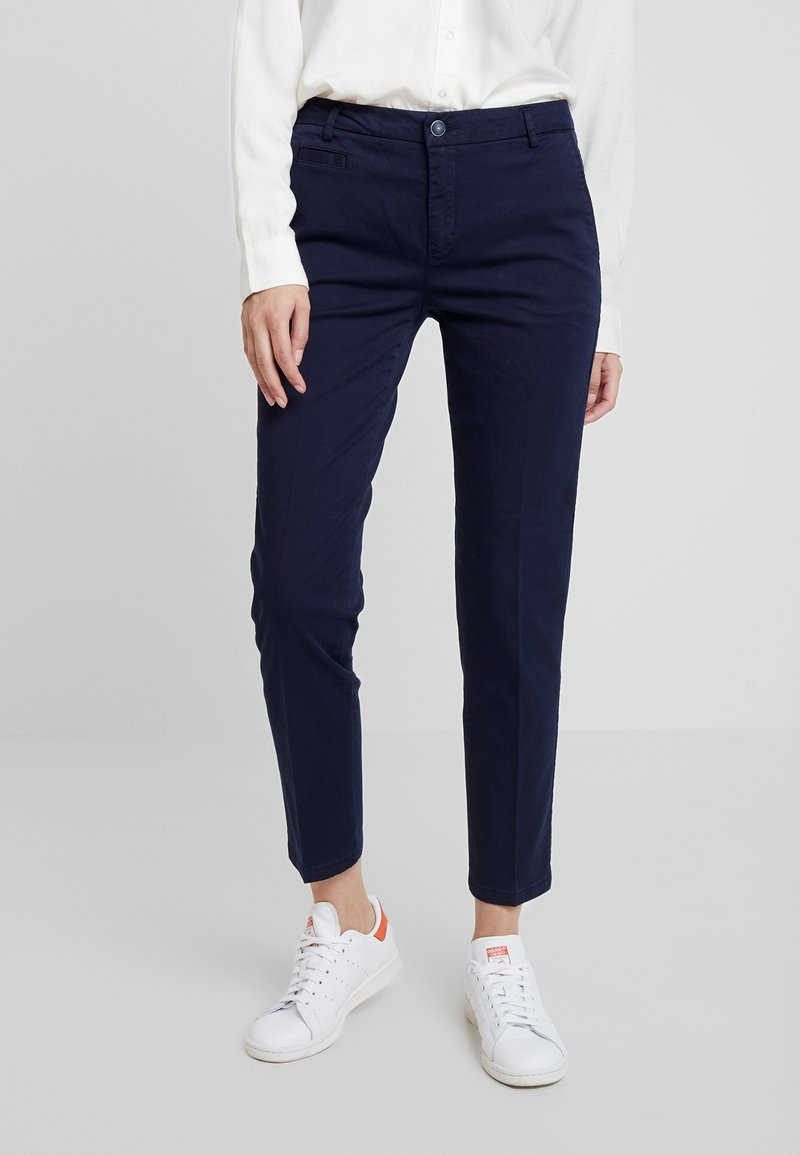 Benetton - GABARDINE STRAIGHT  - Chinos - navy