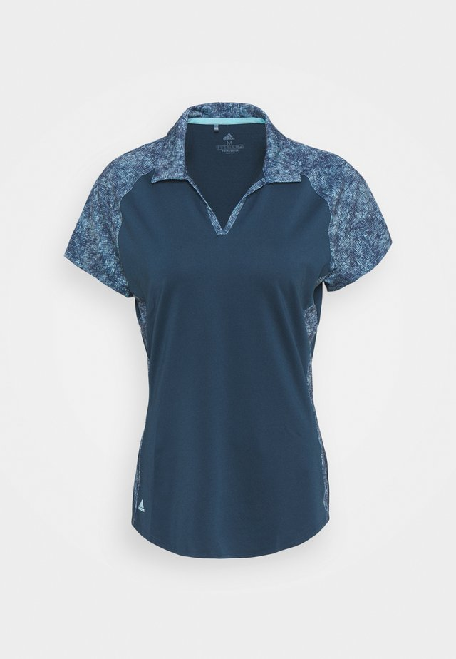 ULTIMATE 365 PRINTED SHORT SLEEVE  - Polotričko - crew navy