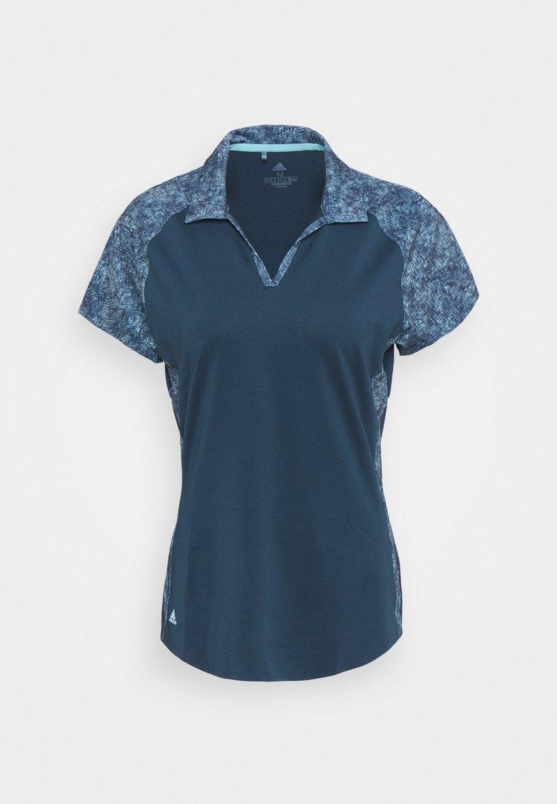 adidas Golf - ULTIMATE 365 PRINTED SHORT SLEEVE  - Polo shirt - crew navy