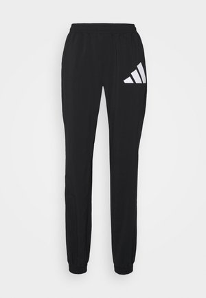 BOS PANT - Tracksuit bottoms - black/white