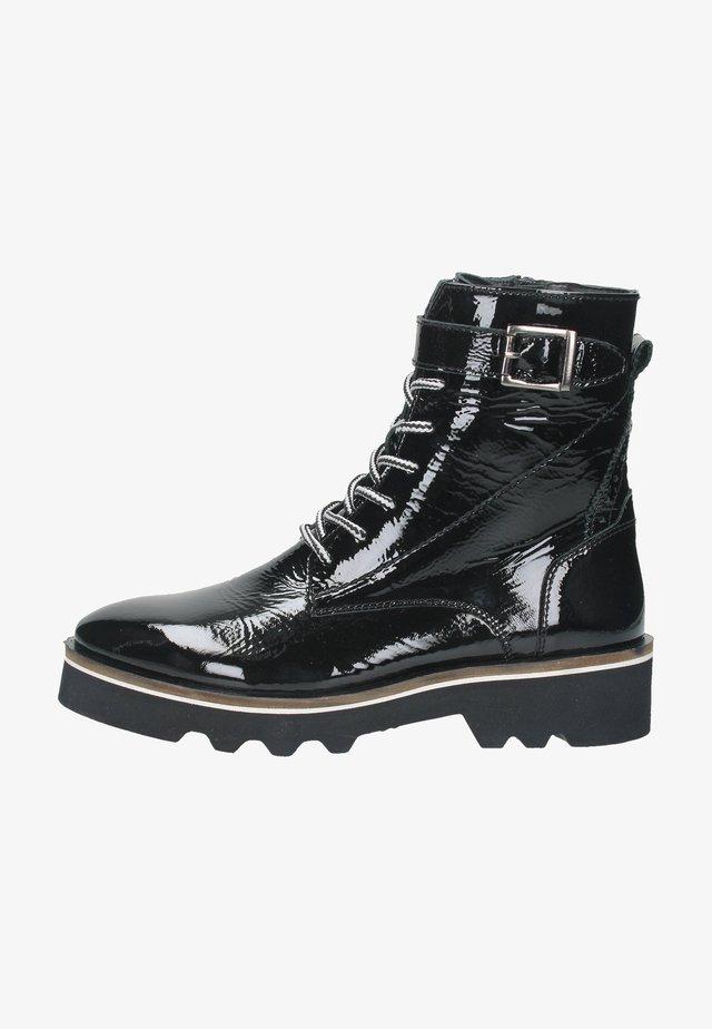 Lace-up ankle boots - schwarz / kombiniert 2