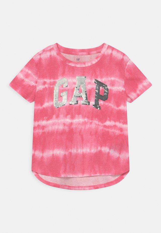 GIRL LOGO - Print T-shirt - pink