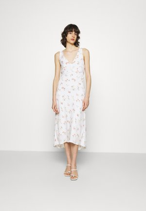 VNECK MIDI SLIP DRESS - Korte jurk - white
