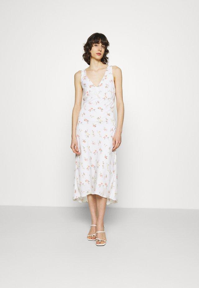 VNECK MIDI SLIP DRESS - Korte jurk - white