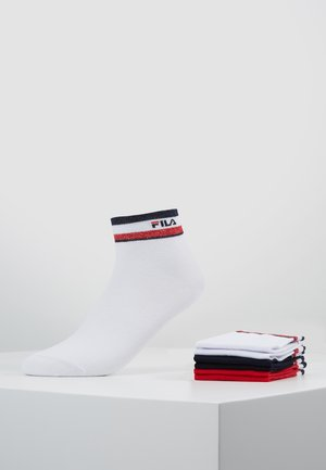 QUARTER SOCKS WITH SHINY DESIGN 3PACK - Chaussettes - red/white/blue