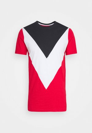 POINTC - Print T-shirt - navy/optic white/red