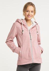 Schmuddelwedda - Zip-up hoodie - rosa melange - 0