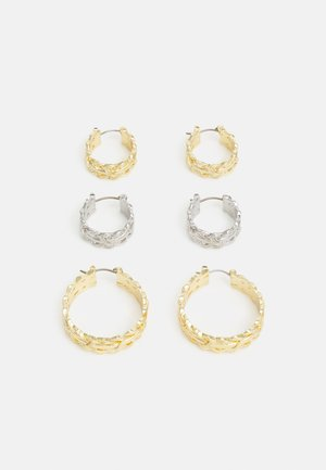 PCSOFIA HOOP EARRINGS 3 PACK - Náušnice - gold-coloured/silver-coloured