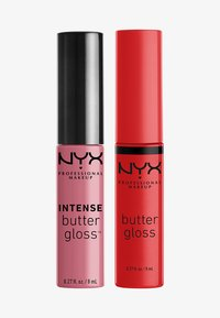 Nyx Professional Makeup - 2ME, LUV ME BUTTER LIP GLOSS DUO-SET - Lip palette - nude pink/warm red - 0