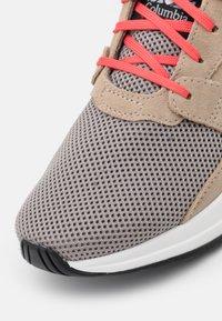 Columbia - WILDONE GENERATION - Hiking shoes - ti titanium/red coral - 5