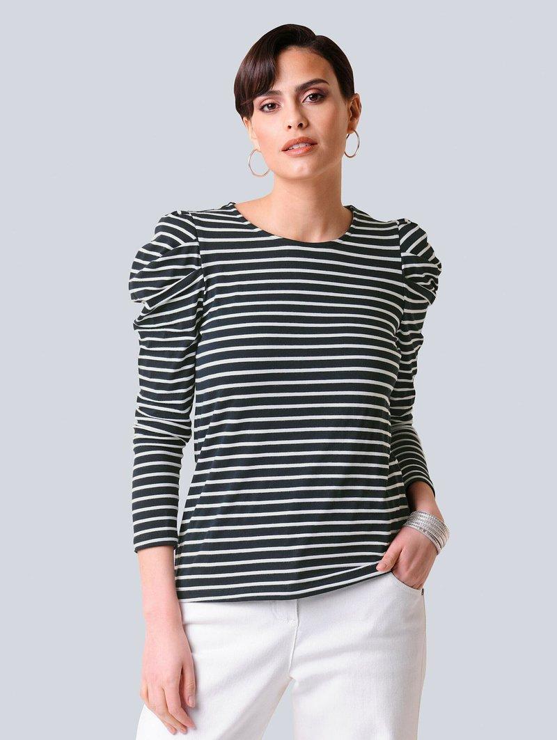 Alba Moda - Long sleeved top - black, white