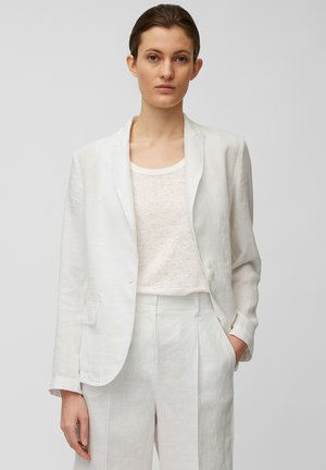 SINGLE BREASTED BUTTON REGULAR FIT - Blazer - white linen