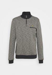 SPACE DYE ZIP - Sweater - dark grey