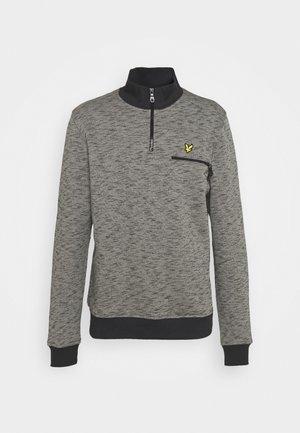 SPACE DYE ZIP - Sweatshirt - dark grey