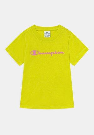 AMERICAN CLASSICS CREWNECK UNISEX - T-shirt z nadrukiem - neon yellow