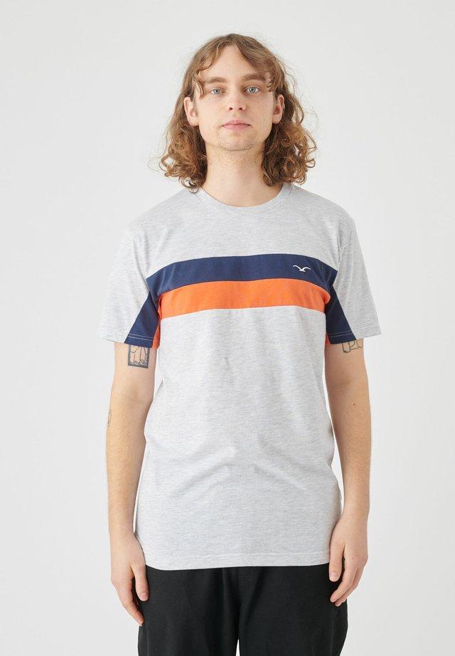 Print T-shirt - light heather gray