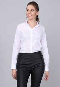 Basics and More - Button-down blouse - white - 4