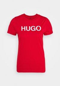 HUGO - THE SLIM TEE - Triko spotiskem - open pink - 5
