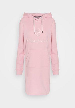 LOCK UP HOODIE DRESS - Day dress - preppy pink