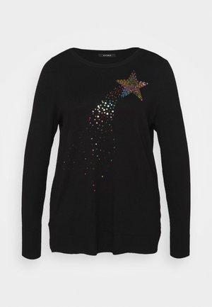 RAINBOW STARBURST JUMPER - Sweatshirt - black
