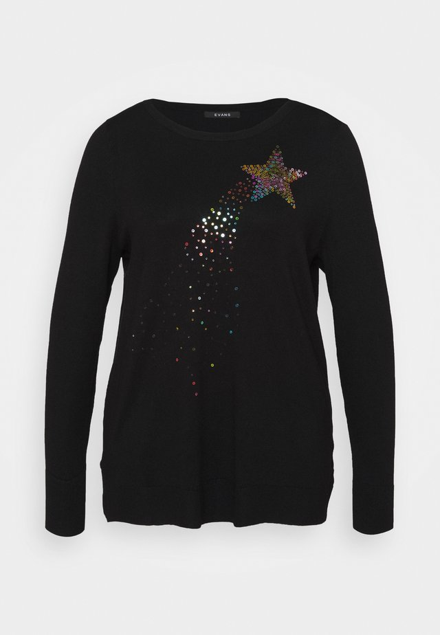 RAINBOW STARBURST JUMPER - Collegepaita - black