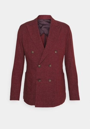 UNSTRUCTURED DOUBLE BREASTED - Suit jacket - dark red