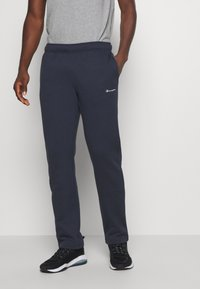 Champion - LEGACY STRAIGHT HEM PANTS - Spodnie treningowe - dark blue - 0