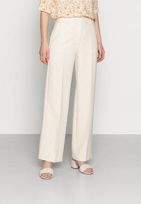 Selected Femme - SLFRITA WIDE PANT - Trousers - birch - 0
