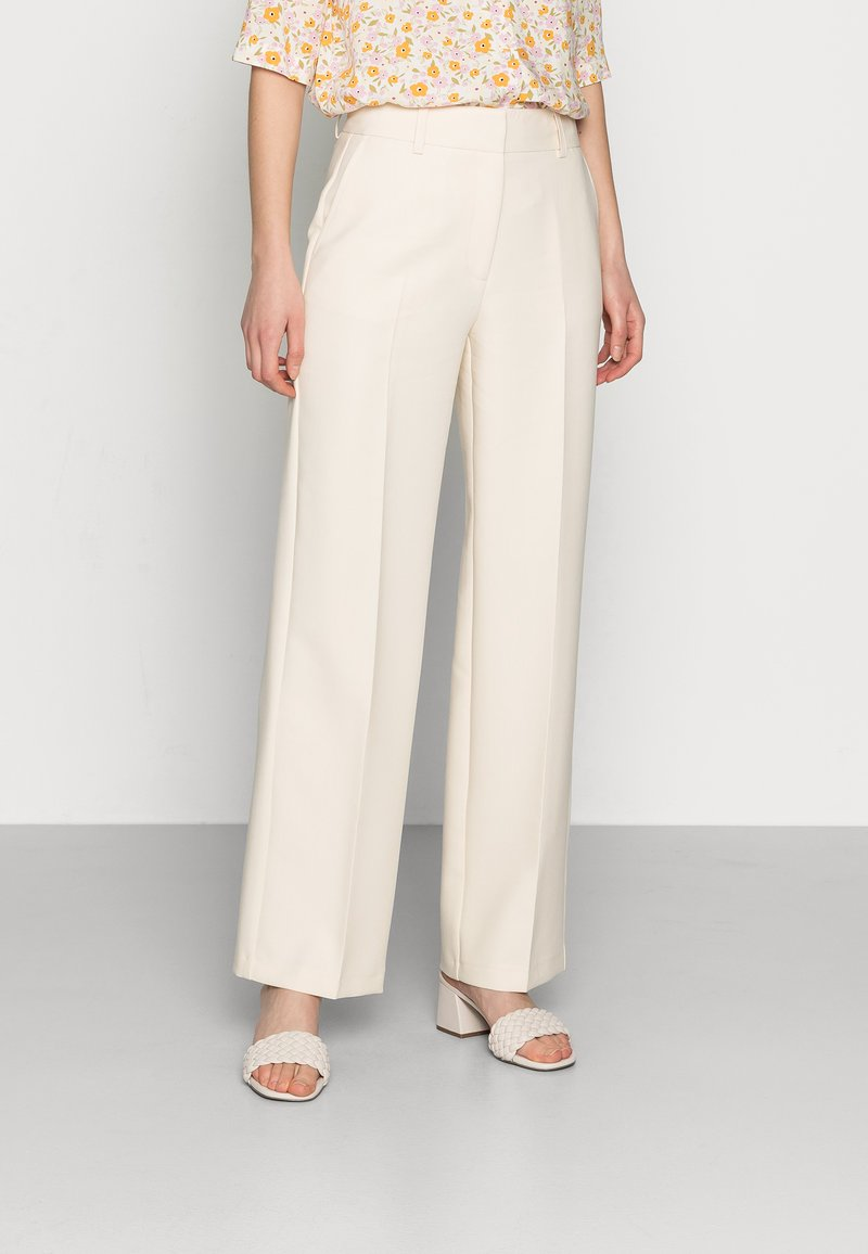 Selected Femme - SLFRITA WIDE PANT - Trousers - birch
