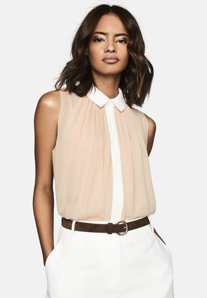 ALVA - Button-down blouse - light stone