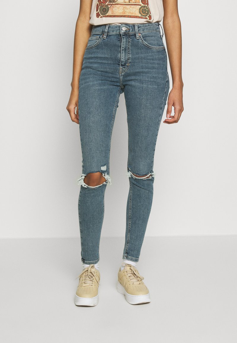 Topshop - ALABAMA JAMIE  - Jeans Skinny Fit - green cast