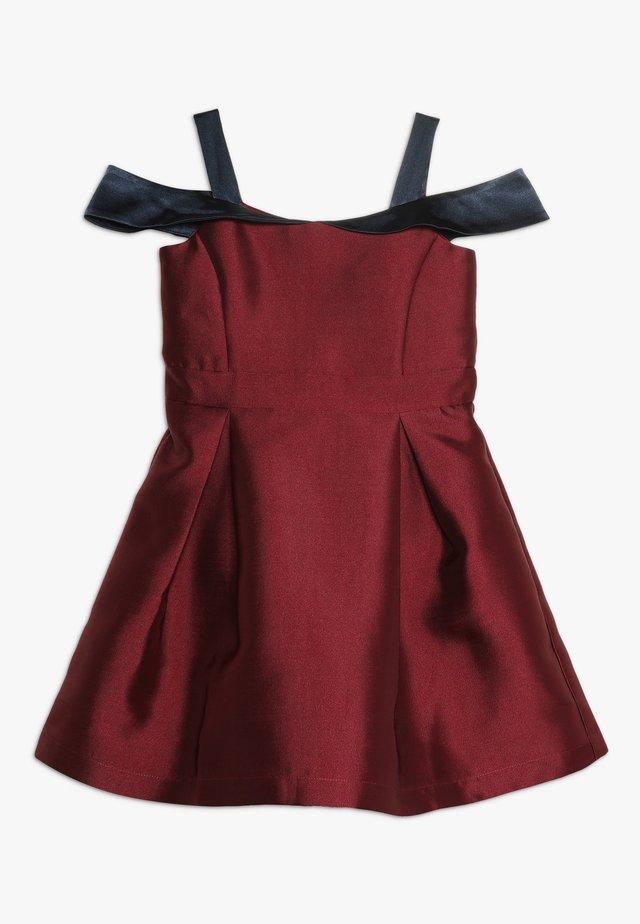 Koktejlové šaty/ šaty na párty - red plum/navy