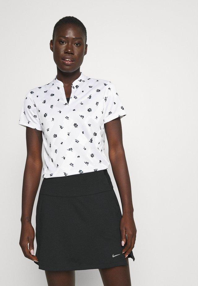 VICTORY - T-shirt med print - white/black