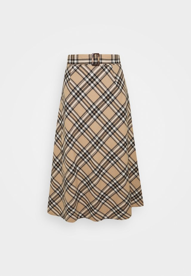 LUCY SKIRT - Gonna a campana - silver mink