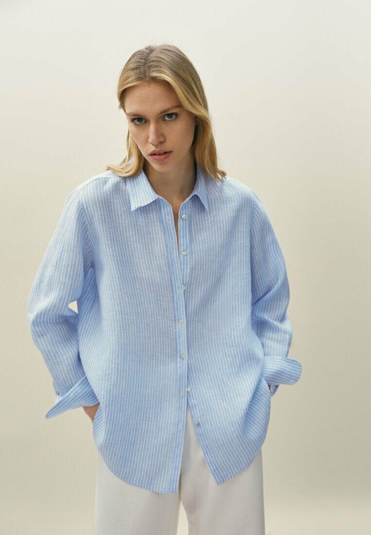 Massimo Dutti - Skjorta - light blue