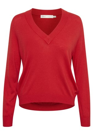 Sweter - fiery red